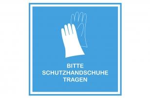 Aufkleber Handschuhe blau 30 x 30 cm
