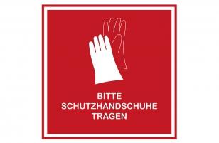 Aufkleber Handschuhe rot 30 x 30 cm